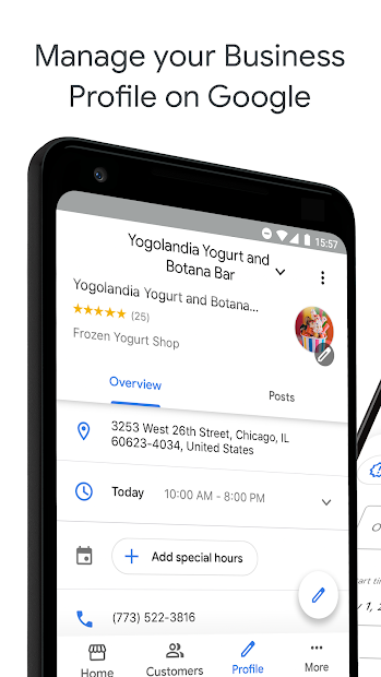 Google My Business - Connect with your Customers Android App Screenshot