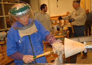 Photo: Lots of action in the woodshop!