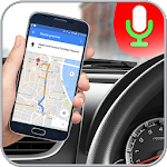 GPS Voice Driving Route Guide: Earth Map Tracking Icon