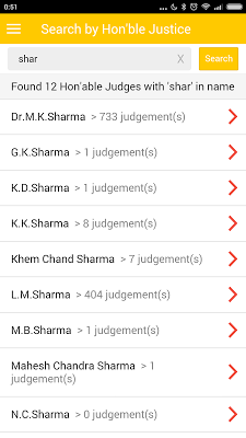 Supreme Court Judgements - screenshot