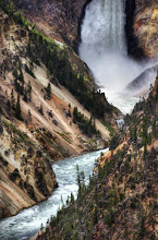 Photo: Beautiful Waterfall in Yellowstone... zoomed in at 200mm.  Other exif info: f/4, ISO 800, 1/2,000th of a second, with the Nikon D3S and the 200-400mm f/4 lens.