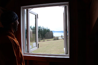 Photo: Ian viewing the view from his office.