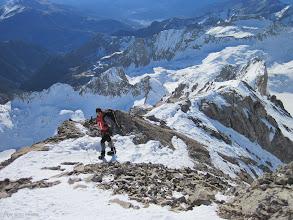 Photo: Subiendo por la cresta meridional, la ruta más practicable para subir al Posets