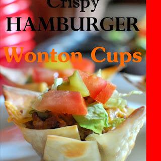 Crispy Hamburger Wonton Cups