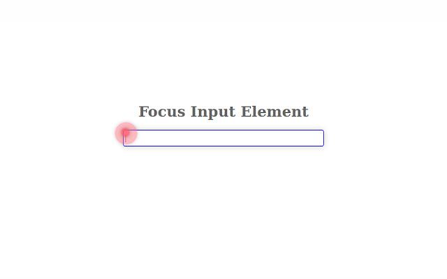 Focus input element