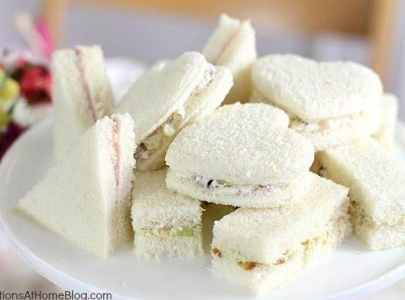 Tea Party Tea Sandwiches,  3 Filling Recipes