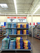 Photo: Our first stop: the pet food department. Right away, we see this  endcap display that features Meow Mix. I rarely buy an item right off the endcap though, since I know this might not be the only variety and I like to compare prices on the aisle where everything is located.