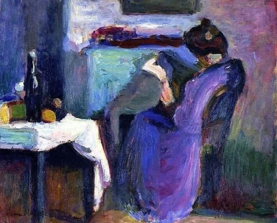 Henri Matisse painting of lady