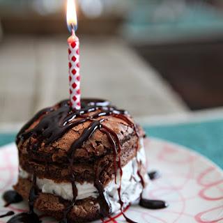Mini Stacked Ice Cream Birthday Cakes.