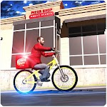 City Bicycle Pizza Delivery icon