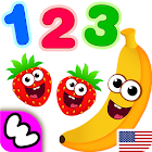 Funny Food 123! Kids Number Games for Toddlers! icon