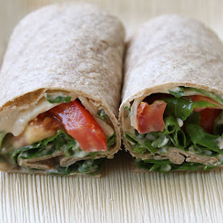 Cheese And Rocket Wrap.