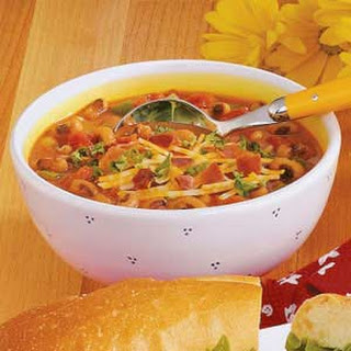 Black-Eyed Pea Soup with Ham.