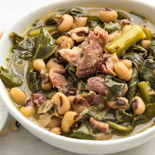 Pressure Cooker Southern Style Beans and Greens.