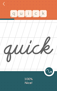 LazyDog calligraphy and cursive writing practice apk screenshot 7