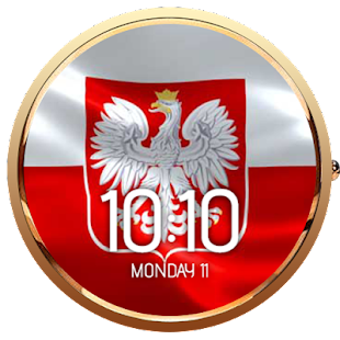 Animated Polish Flag Watchface- screenshot thumbnail
