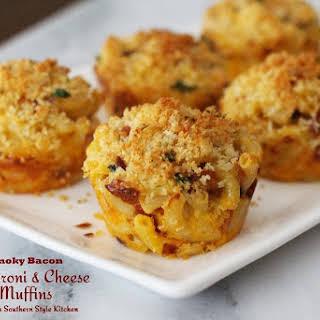 Smoky Bacon Macaroni And Cheese Muffins.
