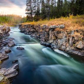 Sheep Falls by Mark Richardson - Landscapes Waterscapes ( idaho, ashton, waterfall, henry's fork, sheep falls, landscape, river )