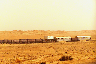 Photo: The longest train in Nouadibbou
