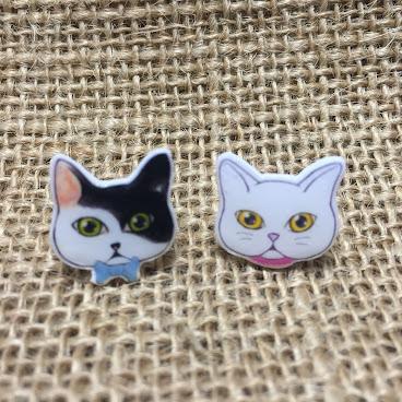 handmade 貓星人耳環 C01款