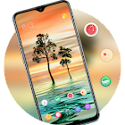 Best Beauty View theme of Tree Sunest Water Ripple icon
