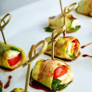 Zucchini Caprese Rolls.