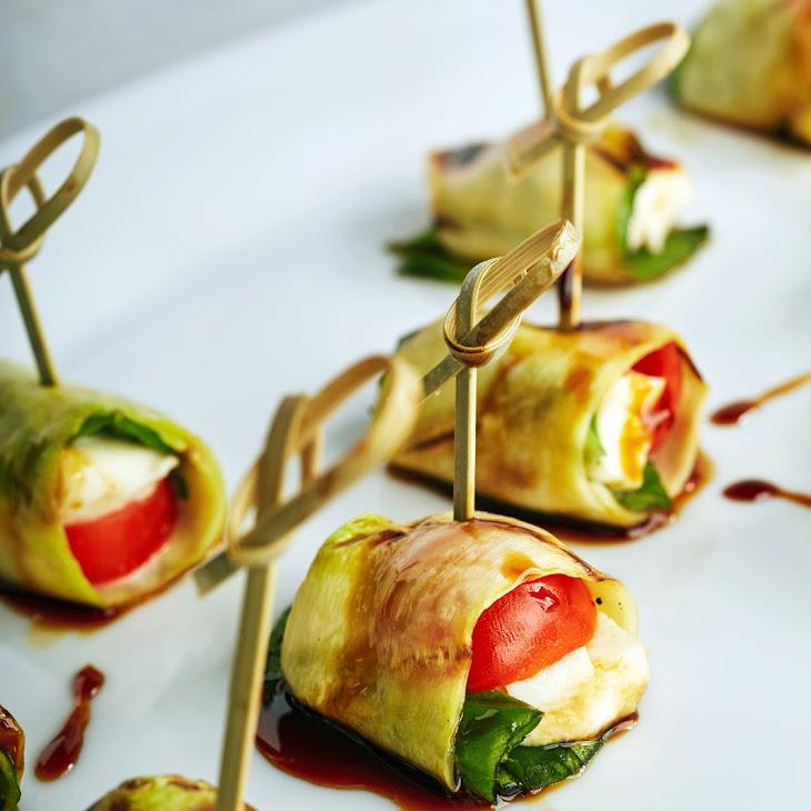 Zucchini Caprese Rolls