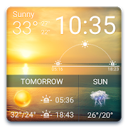 Digital clock&Weather Forecast with Sunrise Sunset