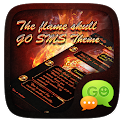 GO SMS THE FLAME SKULL THEME icon