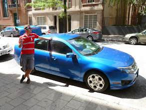 Photo: Alexandre with our rental car.