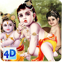4D Little Krishna App & Live Wallpaper icon