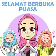 Hijab Muslimah Ramadhan Stickers - WAStickerApps