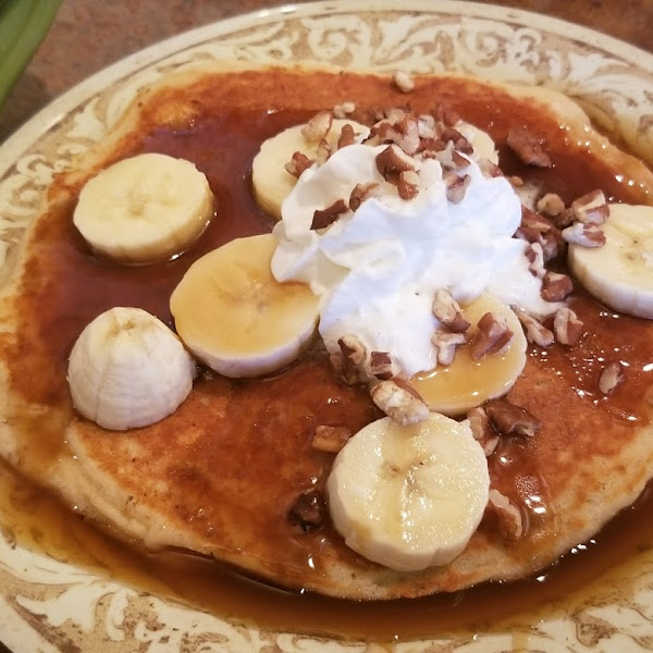 gluten free bananas Foster pancakes. very good