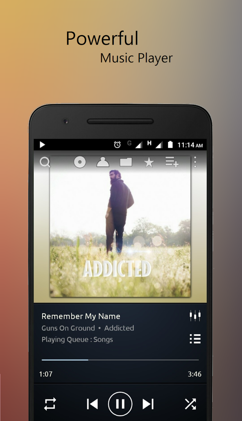 PowerAudio Pro Music Player Screenshot 0