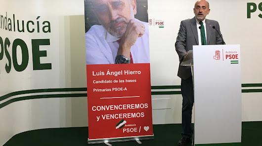 """Hierro (PSOE) admite tener """"escasos apoyos"""" en Almería"""