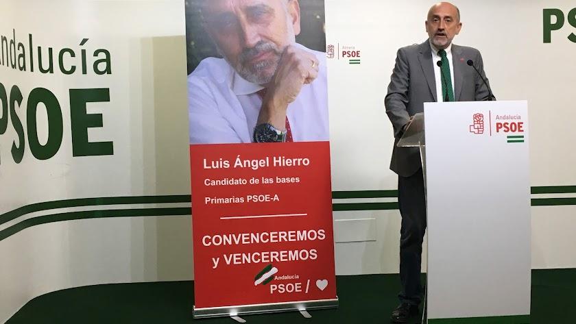 Luis Ángel Hierro, uno de los tres candidatos de las primarias del PSOE.
