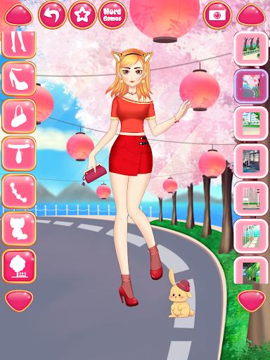 Anime Girls Fashion - Makeup & Dress up apktram screenshots 10