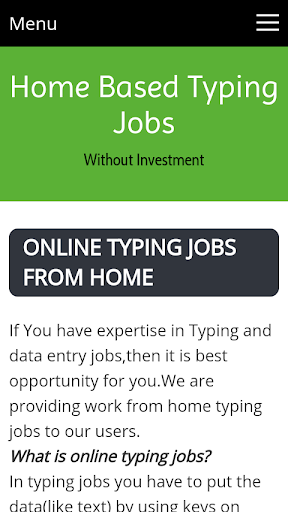 Download Online Typing Jobs Google Play softwares