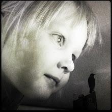 Photo: Superior Being.  #iphoneography #TextureBlendThursday #imageblender #monochrome #child #crow