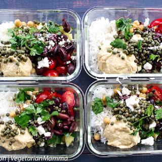 Mediterranean Hummus Bowl - Food Prep Meal.