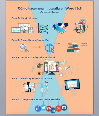 cómo hacer una infografía fácil en Word