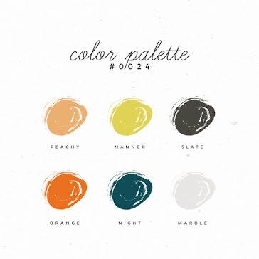 Color Palette - Pinterest Square Pin template