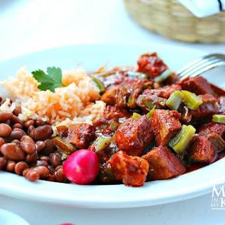 Chile Colorado with Pork and Nopales Recipe