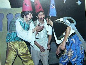 """Photo: Juan Carlos Cordero nos descubre los integrantes de la foto: """"...Una de las primeras fotos que se ha publicado es ésta, de la representación teatral """"Los Tres Jibosos de Egipto"""". ¡Qué sorpresa! Somos tres compañeros de curso, y por orden alfabético: Cabero, Cordero y Montero... además con rima! Pero estoy intrigado.  Me ha ruborizado un poco,  Así que de esos años 2º ó 3º de BUP, no recuerdo, años 76-77"""