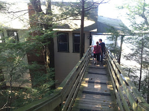 Photo: Walkway to the Boat House.