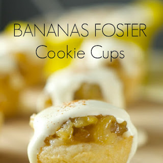 Bananas Foster Cookie Cups