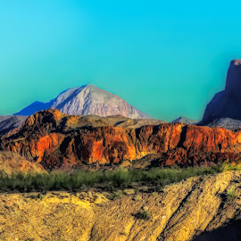 Big Bend National Park Version Of Half Dome. by Dave Walters - Landscapes Mountains & Hills ( nature, lumix fz200, big bend national park, landscape, colors )