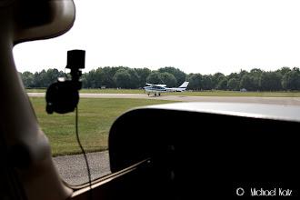 Photo: Avventer line-up til nederlandsk fly på terskel 07 har tatt av.