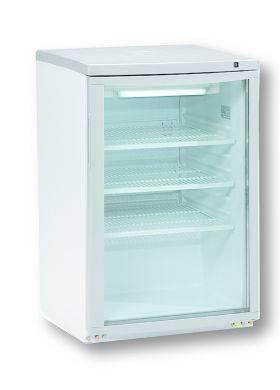 Glasdeurkasten BC80 KLEINE WITTE GEKOELDE VITRINE - +2°/+10°C - 506X565X780mm