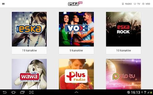 eskaGO - radio   tv   vod- screenshot thumbnail